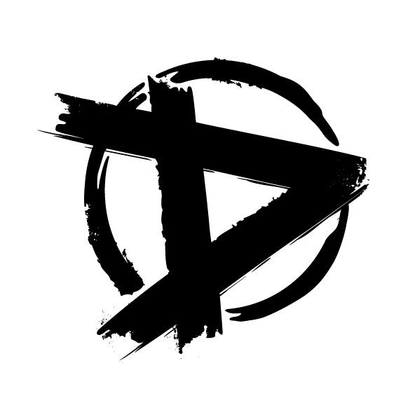 D-merkki valkoisella taustalla