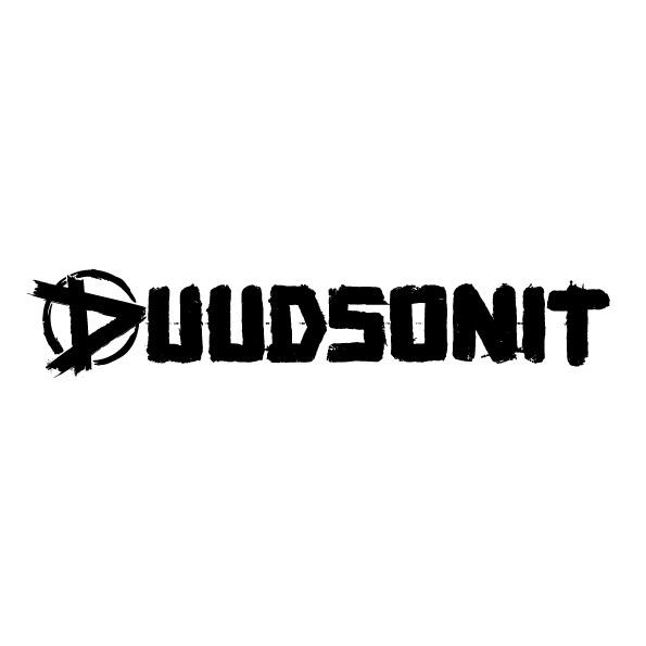 Duudsonit logo 1-rivi valkoisella taustalla