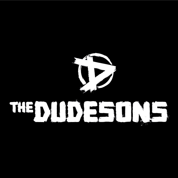 The Dudesons logo black background