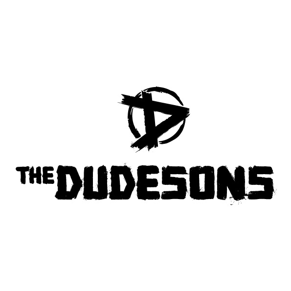 The Dudesons logo white background